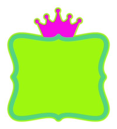 3 Color Wavy Frame with Crown SVG