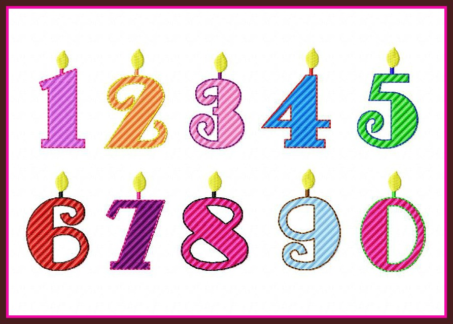 Birthday Candle Numbers Hover Over Image To Zoom
