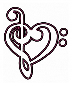 treble bass clef heart applique rh katelynsdesigns com treble bass heart vector treble bass heart vector