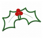 Holly Leaves Applique