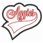 Aggies Swoosh Double Applique