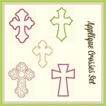 Applique Crosses Set