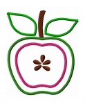 Apple Half Applique Design