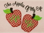 The Apples of My Eye Applique