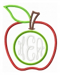 Apple w Circle Monogram Frame