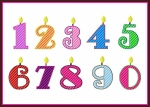 Birthday Candle Numbers