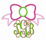 Bow Applique Monogram Frame