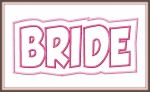 Bride Groom Double Applique Designs