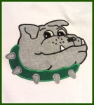 Bulldog Head Applique