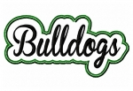 Bulldogs Script Applique