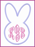 Bunny Head Applique Monogram Frame