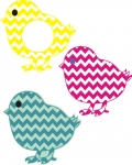 Chevron Chicks Cuttables