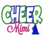 Cheer Mimi Applique Design