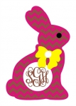Chevron Chocolate Bunny Monogram Frame SVG