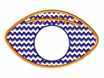 Chevron Football Monogram Frame in Stitches