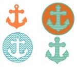 Chevron Anchor and Circles SVG
