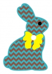 Chevron Chocolate Bunny SVG