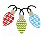 Chevron Christmas Lights Trio Stitched