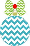 Chevron Christmas Ornament with Chevron Bow