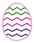 Chevron Egg Applique