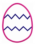 Chevron Egg Applique Rope Frame