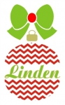 Chevron Split Christmas Ornament SVG