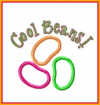 Cool Beans Jelly Bean Applique Design