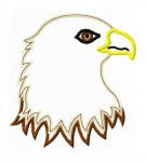 Eagle Head Applique Design