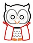 Franken Owl Applique Design