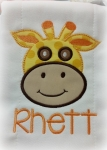 Giraffe Head Applique