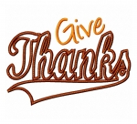 Give Thanks Swoosh Applique