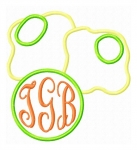 Green Eggs Monogram Frame