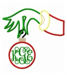 Grinchy Hand Applique Design