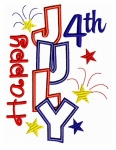 Happy 4th of July Applique