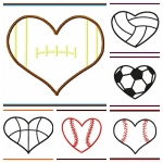 Heart Shaped Sports Balls