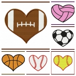 Small Heart Shaped Sports Balls
