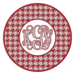 Houndstooth Circle Monogram Frame SVG