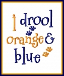 I Drool Orange & Blue
