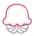 Jelly Fish Applique Design