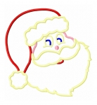 Jolly Santa Face Applique