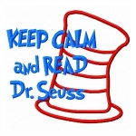 Keep Calm and Read Dr. Seuss Applique