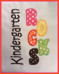 Kindergarten Rocks Applique Design