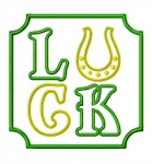 LUCK Applique with Horseshoe
