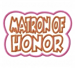 Matron of Honor Double applique Design