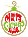 Merry Christmas Ornament SVG