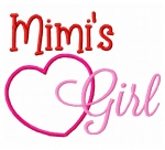 Mimi's Girl with Applique Heart