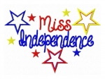 Miss Independence Applique