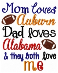 Mom/Dad Loves Football Saying