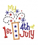 My First 4th of July Applique