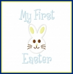 My First Easter Bunny Applique and Fill